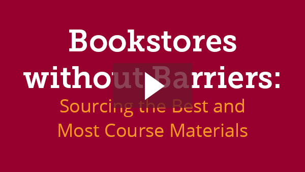 Sourcing the Best and Most Course Materials Webinar